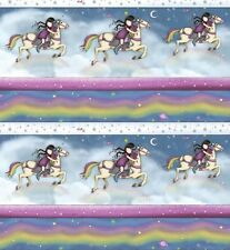 Gorjuss Rainbow Dreams - Pony Ride Stripe - Mist Blue by Suzanne Woolcott,