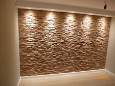 Wandverkleidung 3D Eiche Spaltholz Verblender Wandpaneele massiv Tirsen Deja vu