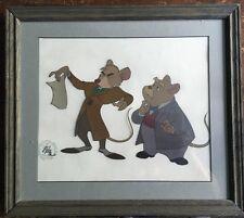 Disney Great Mouse Detective Certified Movie Film Cel Basil & Dawson