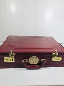 Vintage Red Leather Hard caseBriefcase