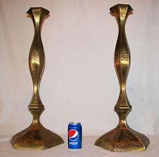 "Vintage Brass Candle Holders Wedding Church Floor Standing Candlesticks 27.5"""
