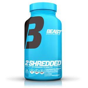 Beast Sports 2 SHREDDED  60 Vegetable Capsules Fat Burner Hydroxycut 2SHREDDED