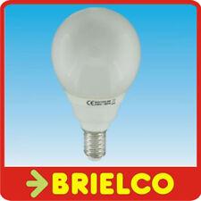 LAMPARA BOMBILLA BAJO CONSUMO FLUORESCENTE LUZ DIA ESFERICA E14 9W 220V BD4082
