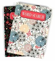 1 x Travel Size Puzzle Book - Contains Word Search Book Floral Cover
