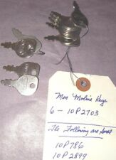 (10) Ignition switch Keys Minneapolis Moline 10P2703, 10P786, 10P2899