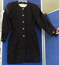 EUC Couture ESCADA Margaretha LEY Black COAT DRESS Lined Cotton 3 pocket US Sz 4