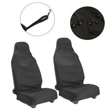 2xUniversal Car Seat Cover Front Waterproof Van Auto Vehicle Protector Black Top