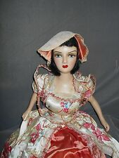 "Boudoir Bed Doll, 31"", Composition and Cloth, Antique Dress & Doll"