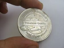 United Airlines Fleet Operations Timeless Quality Coin Medal Award