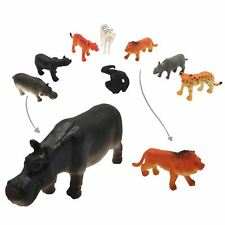 8 Plastic Jungle Zoo Figure Wild Animals Childrens Christmas Toy Party Stocking
