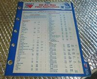 1985 Group 7 Oil Air Gas Filter Application Cross Reference chart Manual