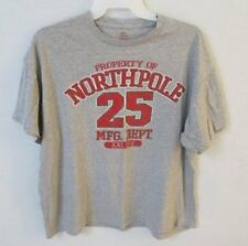 Northpole 25 Mfg Dept gray short sleeve graphic t-shirt *Sz 2XL*