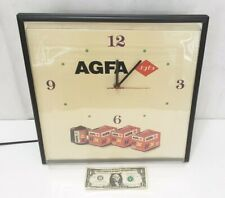 AGFA Camera Film - Advertising Wall Clock Collectible Lighted Store Vintage Sign