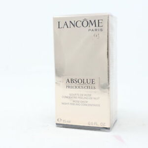 Lancome Absolue Precious Cells Rose Drop Night Peeling Concentrate 0.5oz  New