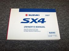 2007 Suzuki SX4 Crossover Owner Owner's User Guide Manual Rally Sport AWD 2.0L