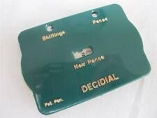 VINTAGE 1970's PLASTIC UK CURRENCY DECIMAL CONVERTER - SHILLINGS to NEW PENCE