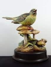 Large Hereford Fine China Limited Edition Bird Figurine Greenfinch 20/500