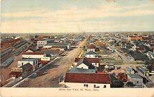 El Reno Oklahoma Birds Eye View Showing Architecture Antique Postcard V11135