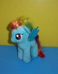 "TY My Little Pony MLP Rainbow Dash 7"" Plush Pegasus Shiny Wings Stuffed Toy"