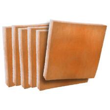 (6) Merv8 13 x 21-1/2 x 1 Filter Pads Orange / White Anti-Microbial Media