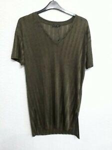 size S khaki green long top from Zara