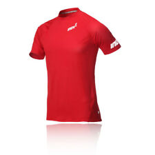 Inov8 AT/C Base Mens Red Short Sleeve Crew Neck Running T Shirt Tee Top