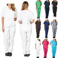 1 Pc Nursing Work Uniform Protective Clothing Nurse Solid Color Pocket V-neck