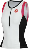 Castelli Womens Cycling Free Donna Tri Top Triathlon Size S New Color White