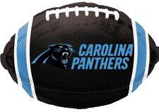 5 New 17 Inch Carolina Panther Nfl Football Shaped Mylar Balloons