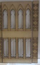 """Dolls House 12th scale Gothic Wall Panelling No5 plus1 upright 3"""" long MDF102-2H"""