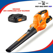 Leaf Blower Sweeper Electric Cordless Portable Handheld Tool W/ Battery, Charger