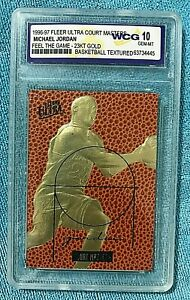 1996-97 Fleer Ultra Court Masters FTG 23K Gold  WCG 10 MIchael Jordan