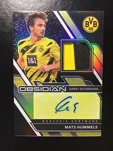 2020-21 Panini Obsidian Mats Hummels SSP Jersey Autographs #'d /5 Dortmund JA-MH