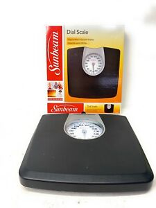 Sunbeam Full View Dial Scale SAB602DQ1-05 Body Weight Scale - Black