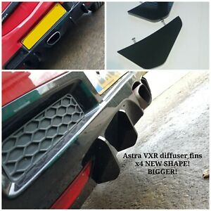 Vauxhall Astra VXR diffuser fins/vxr diffuser/Astra VXR bumper fins/Astra vxr