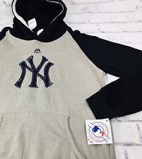 New York Yankees Hooded Majestic NY Sweatshirt Boys Large 14-16 14/16 MSRP:50.00