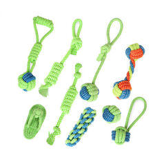 Cotton Dog Rope Toy Training Small Medium Dogs Chew Toy Puppy Toothbrush Toys