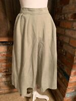 Vintage Women's WHITE STAG Midi Tan/Green Wool SKIRT SZ 10