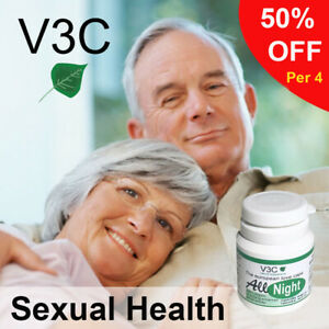 MALE ENHANCEMENT SEX PILLS HARD SIZE ERECTILE All NightV3C Nutrition USA 10 caps