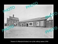 OLD LARGE HISTORIC PHOTO OF TRAMORE WATERFORD IRELAND, THE RAILWAY STATION c1910