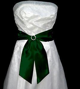 "4""x58"" SATIN Fancy Dress Party Wedding Ribbon SASH Band Belt Cravat Bridesmaid"