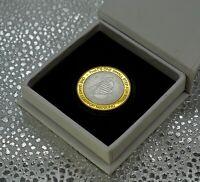 APOLLO 11 MOON/LUNAR LANDING Silver & 24ct Gold Commemorative & Display/Gift Box