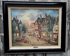 Bearington Street, by Dennis Patrick Lewan. Superb Condition. very large paintig