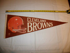 Cleveland Browns 1970-1985 Two Bar Helmet Logo Full Size Original Pennant EXC