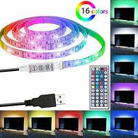 USB 5V LED Strip Light TV backlight 5050 RGB Tape Light Color Changing Light Kit