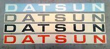 DATSUN B110 B120 UTE 1200 TAILGATE TAIL GATE STICKER DECAL LABEL LOGO WHITE