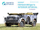 Quinta QD35027 Horch 4X4 type 1a 3D-Printed  coloured Interior for Tamiya kit