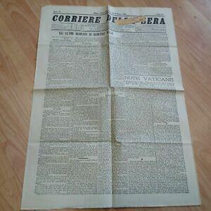 Corriere della Sera Raro Set 3 Numeri 1884 Morte Quintino Sella LOTTO15