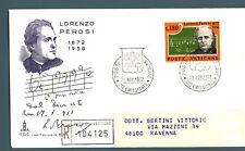 VATICANO - 1972 - Centenario della nascita del Maestro Lorenzo Perosi su raccom.