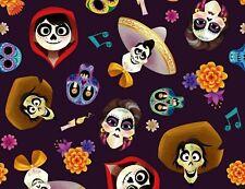 FAT QUARTER  DISNEY COCO & FRIENDS  DAY OF THE DEAD  MIGUEL  DIA DE MUERTOS  FQ